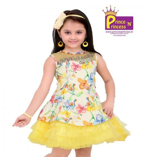 Kids Lemon cute Party & Birthday frock.. BUY Online @ www.princenprincess.in
