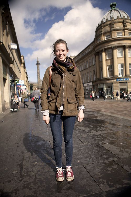 'We were close to our Barbour Headquarters, in Newcastle Barbour People spotting the other week. Here\u2019s Beth wearing her olive Barbour wax jacket - it actually went to Rome travelling with her recently!\u00a0'