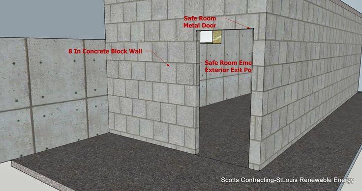 Safe room cmu basement steel door location alternate for Safe room design plans