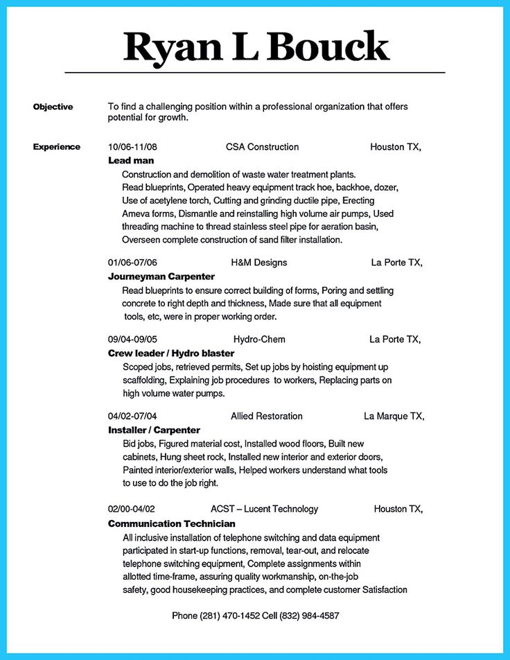 Carpenter Resume Sample] Carpenter Resume2, 80 Of Candidates ...