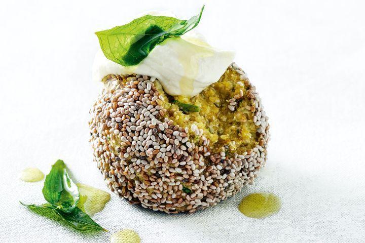 Cauliflower, chia and chickpea bliss balls