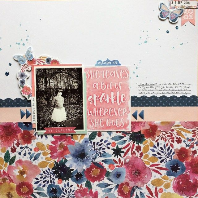 She leaves a bit of sparkle - crafts by marialachica - Cocoa Vanilla Studio - Wild at heart