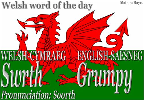 Welsh word of the day: Swrth/Grumpy