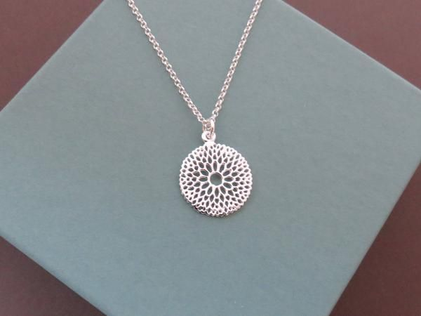Sterling Silver Filigree Necklace | MarciaHDesigns