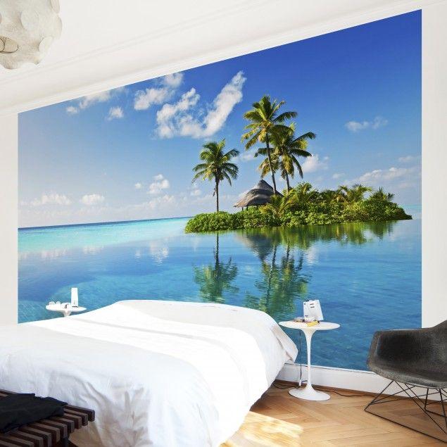 Fototapete Karibik - Tropisches Paradies - Vliestapete Breit