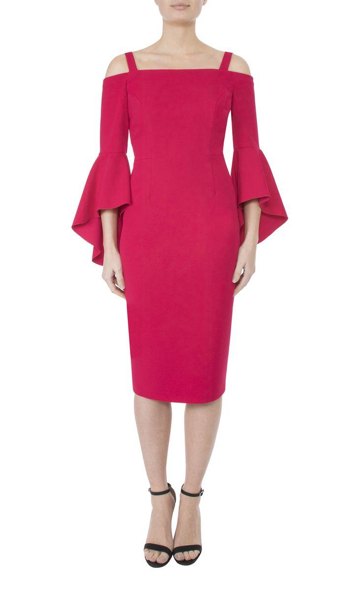 Occasionwear   Raspberry Crepe Dress