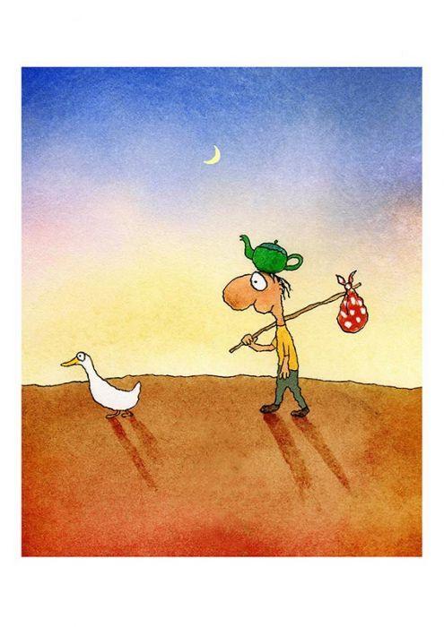 Direction Finding Duck - Michael Leunig - Artists