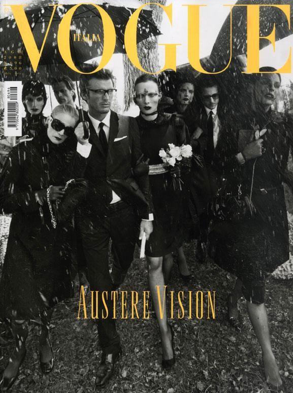 Vogue Italia, August 2008, Mark Vanderloo, Linda Evangelista, Karen Elson
