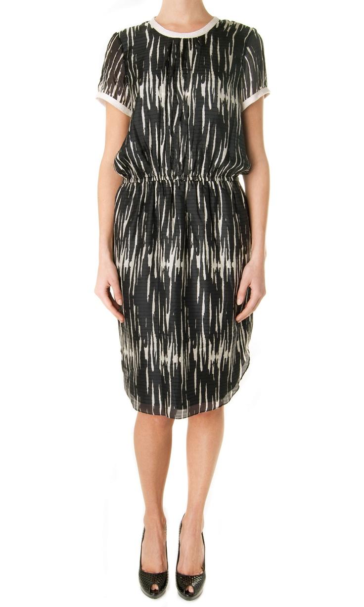 Sea NY Pintucked short sleeves dress - #womenswear