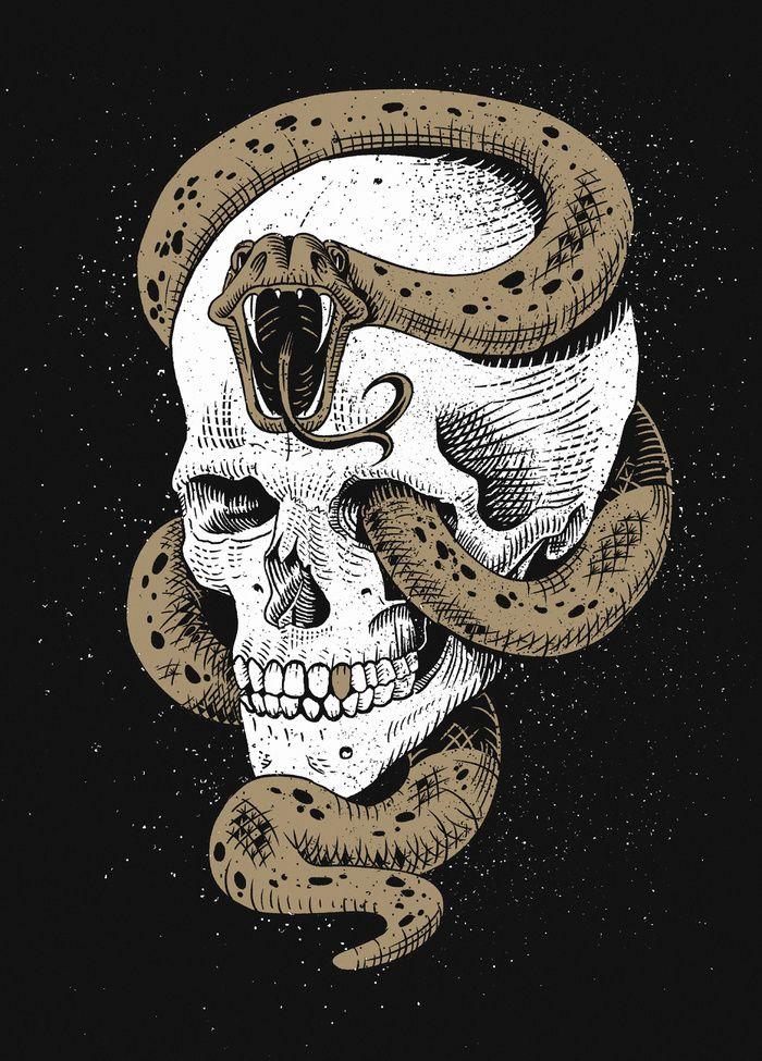 """The Dark Mark of You-Know-Who"" Art Print by Pakowacz on Society6."