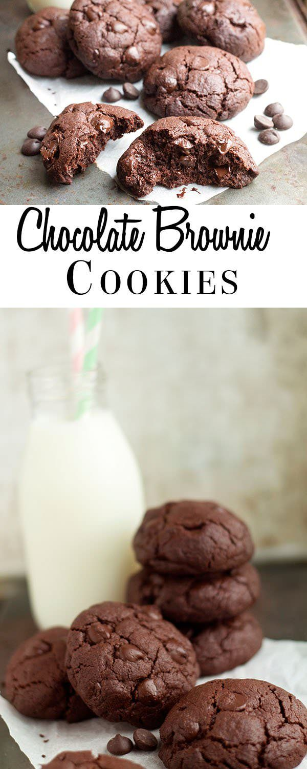 This recipe for Chocolate Brownie Cookies are the perfect balance between a crisp cookie and a fudgy brownie.