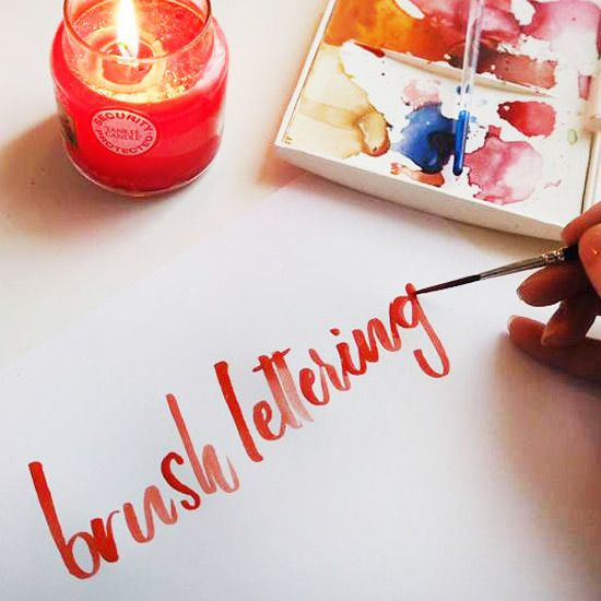 Follow this tutorial to create beautiful brush-lettering using watercolor paints.