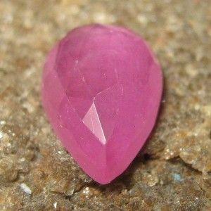 Pear Buff Top Pink Ruby 2.00 carat