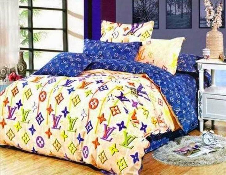 original louis vuitton lv bettw sche g nstig billig gut preiswert king size seide baumwolle. Black Bedroom Furniture Sets. Home Design Ideas