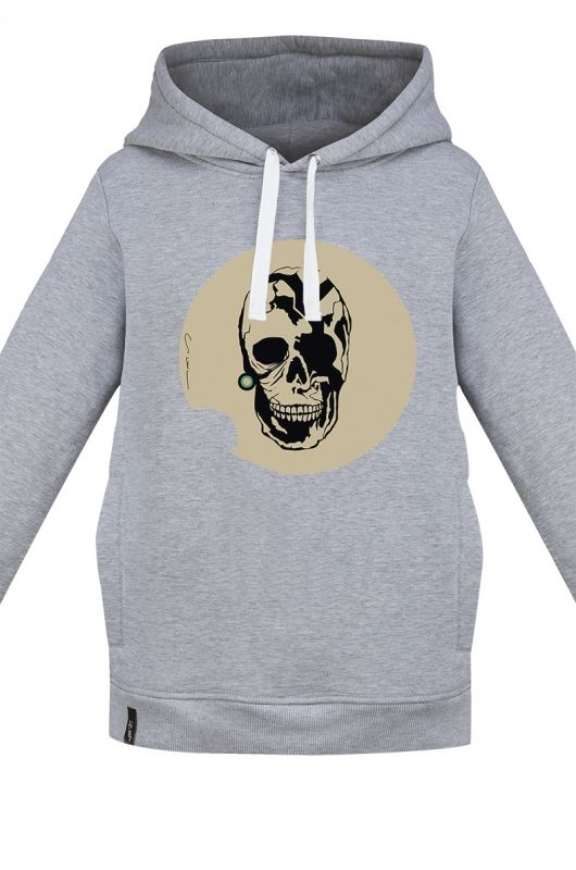BURRITO TUNNEL SKULL UNISEX sweatshirt made of high quality fabric in heather gray. Composition 95 % cotton 5% polyester. Beautifully finished and very comfortable, specially designed with comfort in mind.  Very durable print, created specifically for Meet The Llama by our first male graphic designer Matthew Kozik. The series of prints from Matthew is characterized by a combination of mechanical elements with the animal instinct. #meetthellama #women #men #unisex #hoodie #graphic #pyjama