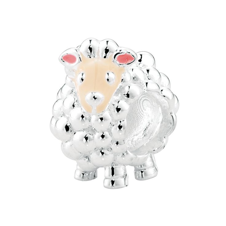 An adorable addition to your collection, this beautifully crafted sheep charm has been created in sterling silver and features enamel detailing. A truly adorable charm. Exclusive to Emma & Roe.