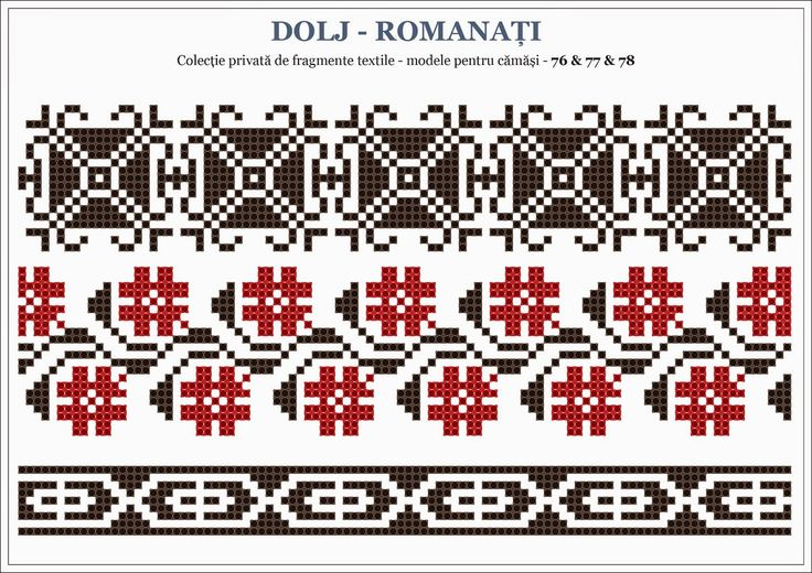 Romanian traditional motifs - OLTENIA, Dolj - Romanati (Semne Cusute)