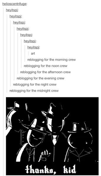 I'M A MEMBER OF THE MIDNIGHT CREW!  IM A NIGHT OWL AND A WISE BIRD TOOOOOOO!  :D<==HOME WITH THE MILK IN THE MO-OR-NING!