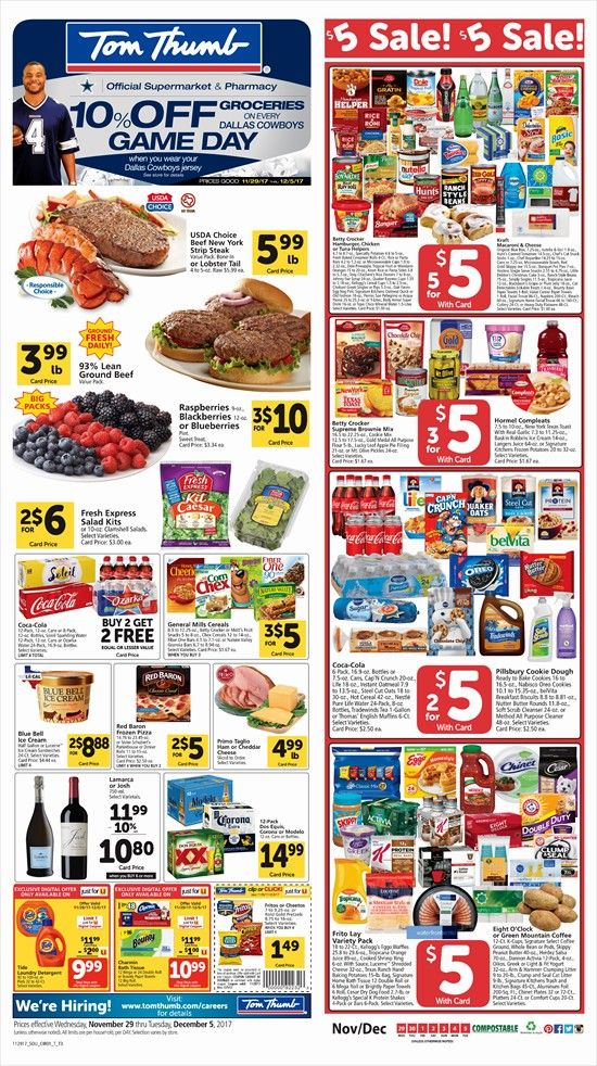Tom Thumb Grocery Stores Weekly Ad Nov 29 - Dec 05, 2017