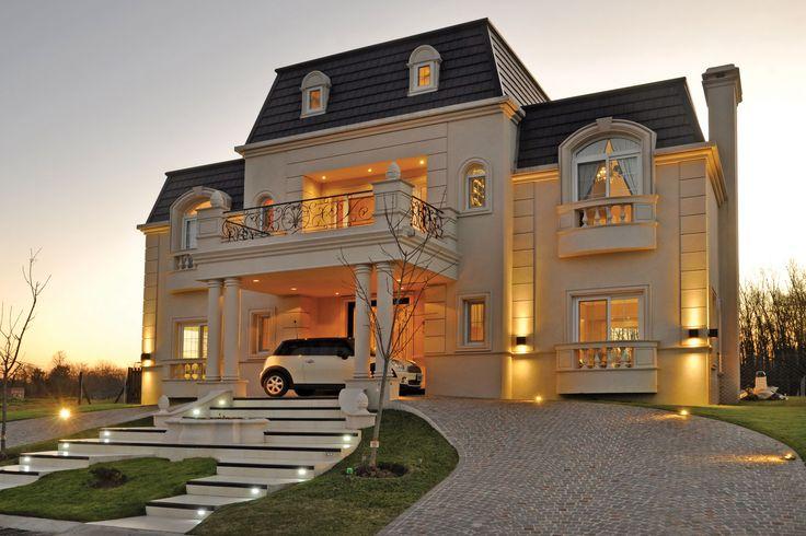 Galeria fotos a r arquitectos casa estilo cl sico for Casas estilo frances clasico