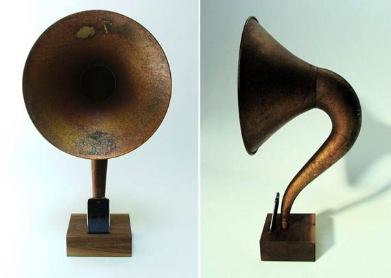 iVictrola iPhone Phonograph $425.  Now I believe, THIS is the most ridonkulous iPhone accessory I've seen.