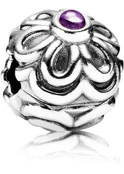 Pandora Stopper Blumen Silber-Clip 790953AM