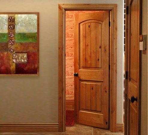 Arch top interior door knotty alder interior doors - Knotty alder interior doors sale ...