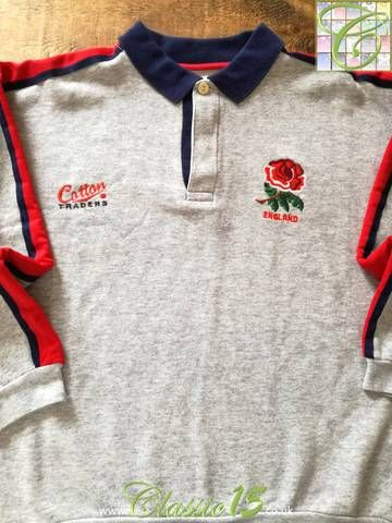 Official Cotton Traders England rugby training jumper from the 1992/93 international season.