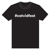Cat Video Festival T-Shirt - Black Hashtag $10.00:  T-Shirt, Cat Videos