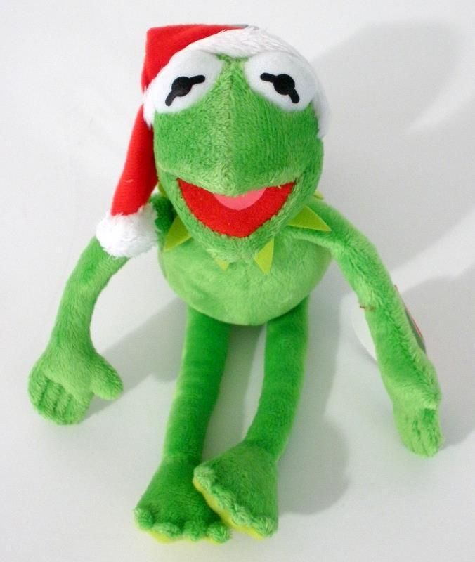 2012 Disney Ty Beanie Babies Kermit The Frog Christmas Plush With Tags 9
