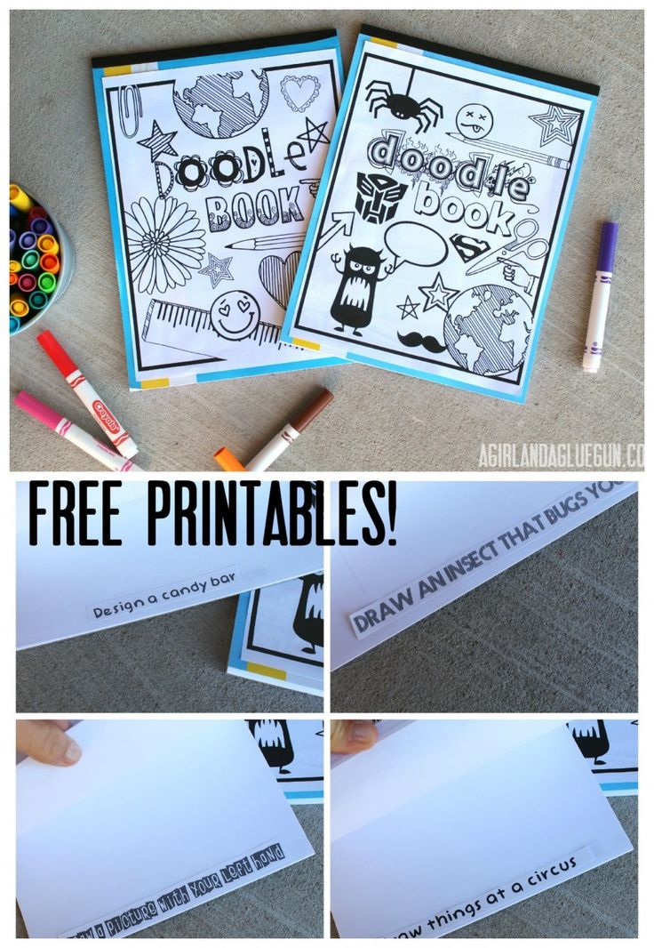 doodle book with free printables great way to get the kids creative!