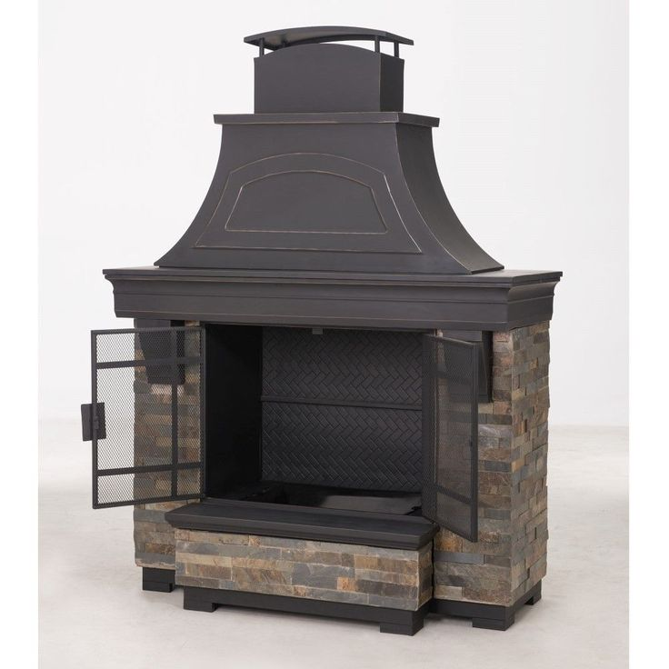 Sunjoy Japer 72 inch Steel And Faux Stack Stone Outdoor