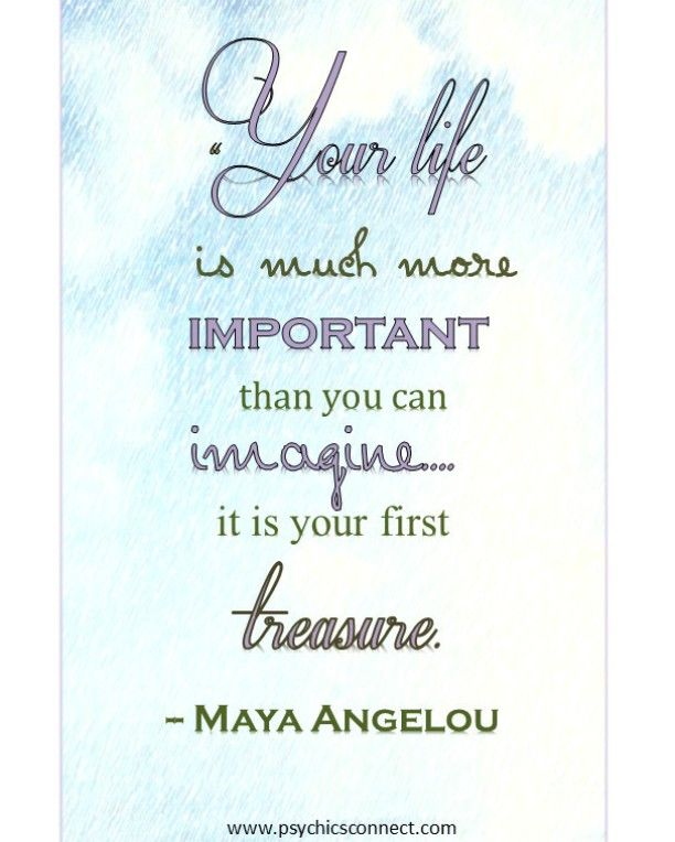 """""""Your life is much more important than you can imagine... it is your first treasure. - Maya Angelou""""  If you want to know more about us, you can go to: www.psychicsconnect.com  #psychicsconnect #psychics #psychicsofinstagram #tarotreadings #tarotreadingsonline #crystalreading #love #mediums #mediumship #spiritguides #clairvoyant #clairvoyantsight #followme #crystalball #horoscope #horoscopes #dailyhoroscope #christmas #dreamreading #dreaminterpretation #fortune #december #psychicreaders…"""