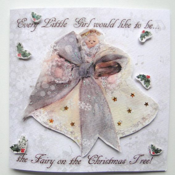 3D Christmas Fairy Card: Fairy on the Christmas Tree, Unique Greeting Cards…
