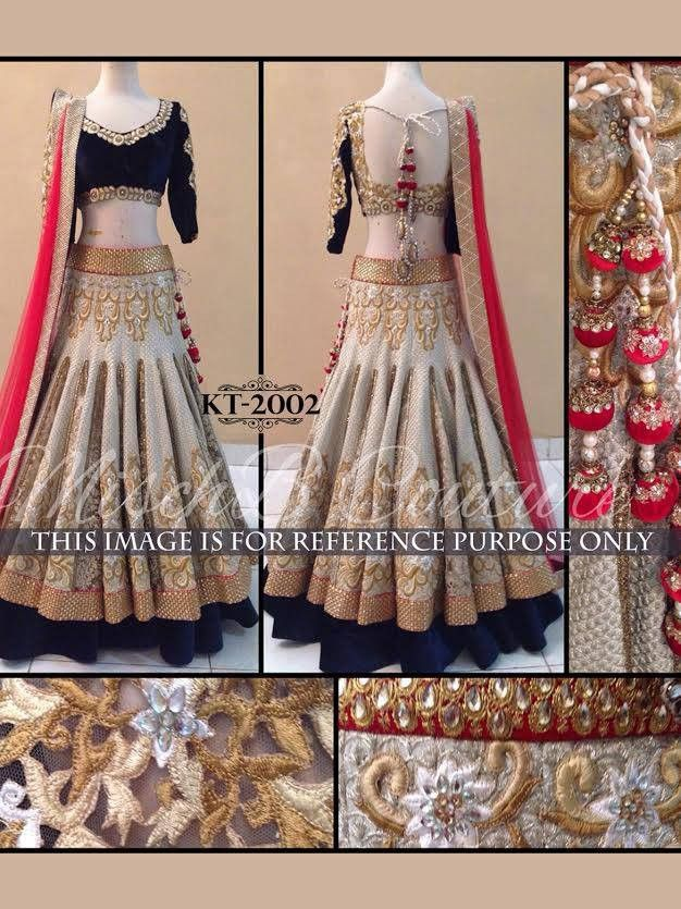 Gorgeous Gold & Cream Bollywood Lehenga Online