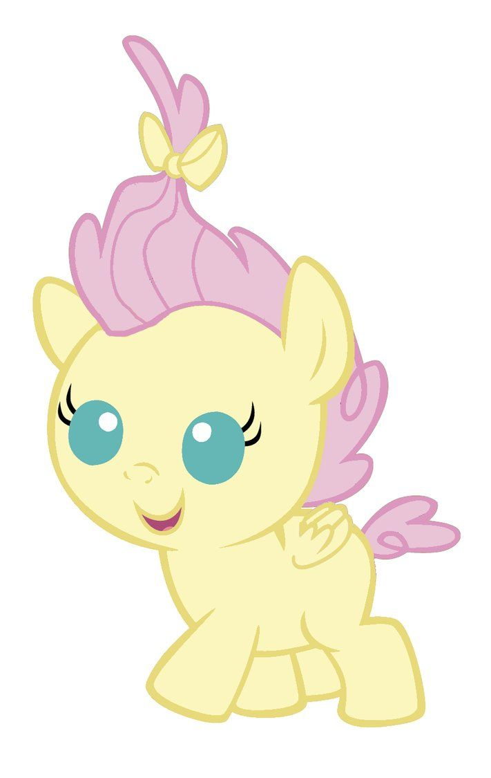 My Little Pony Coloring Pages Fluttershy Baby : Baby fluttershy mlp fim pinterest babies and