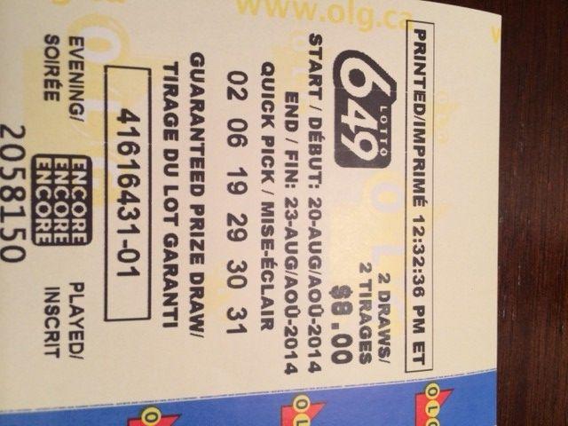 Lotto 649 will make us RICH
