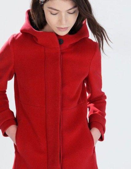 I più bei Cappotti Inverno 2015 Zara per Lei, per Lui e per i Bambini Cappotti inverno 2015 Zara Donna rosso