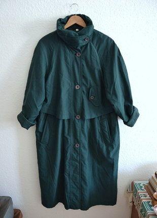 Kaufe meinen Artikel bei #Kleiderkreisel http://www.kleiderkreisel.de/damenmode/mantel/145977560-true-vintage-mantel-trenchcoat-gefuttert-oversized-grun-lang-maxi-midi