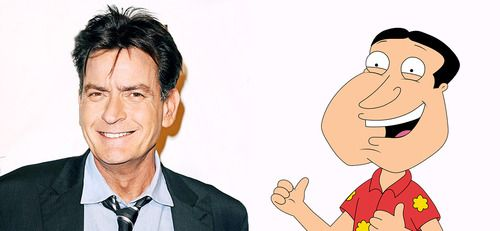 From Cannot Unsee: Look-alikes (and often act-alikes) Actor and loose cannon Charlie Sheen vs.Glenn Quagmire, the neighbor/sex addict from Family Guy.