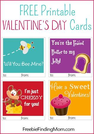 Here are six Free Printable Valentine's Day cards  that are cuter than anything in stores! Happy Valentine's Day!