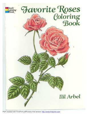 Favorite Roses Coloring Book Dover ColoringBook Download