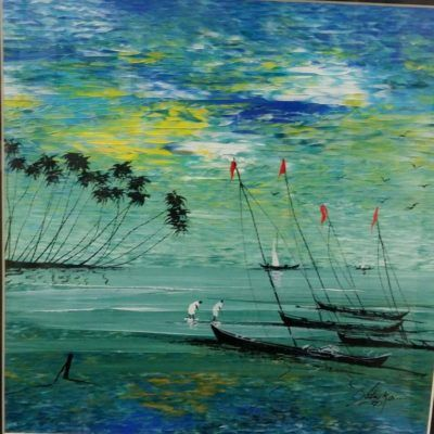 Landscape Paintings represent Natural Scenery and make for beautiful wall art, apt for Home and Office Decor. Landscapes depict elements of nature, be it a Village Scenery or a Waterscapes Original Certified Landscape Art with more than 300 options by top Famous Indian artists available on the Tarun Art Gallery.