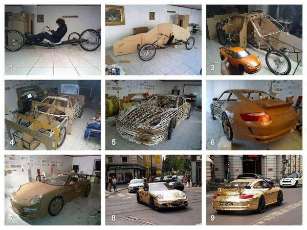 Porsche en Carton