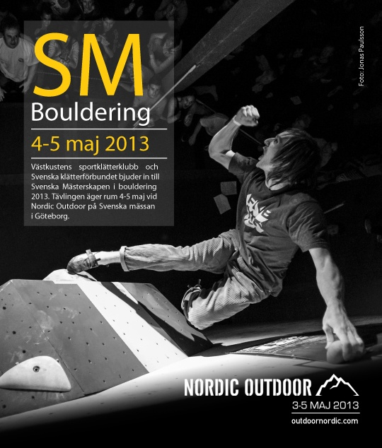 Missa inte när Sveriges bästa klättrare gör upp om SM-titeln! Under Nordic Outdoor går SM i Bouldering av stapeln. #gbgftw #boulder #bouldering #klättring #climbing #rockclimbing #träning