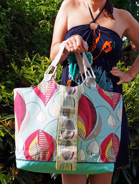 Lillesol und Pelle Schnittmuster/ pattern: Strandtasche Sunshine Coast