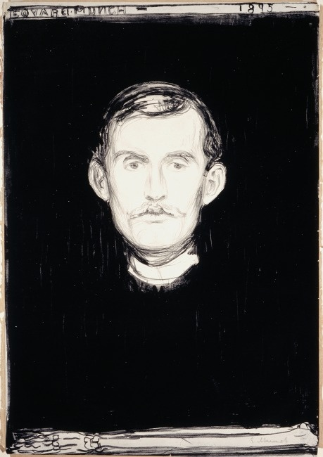 Edward Munch: Self-portrait with Skeletal Hand, 1895.