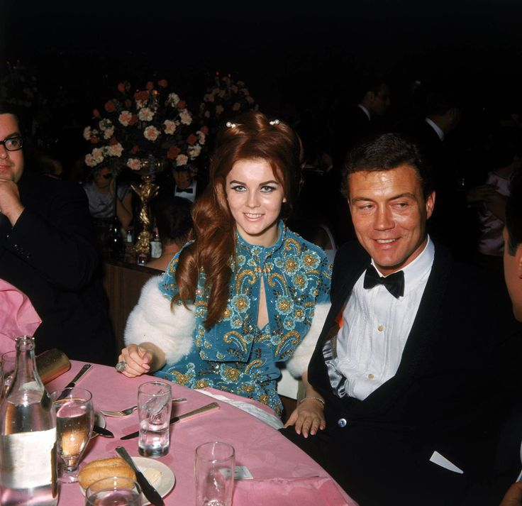 Ann Margaret and Roger Smith at the Governor's Ball post the 37th Academy Awards April 5th, 1965