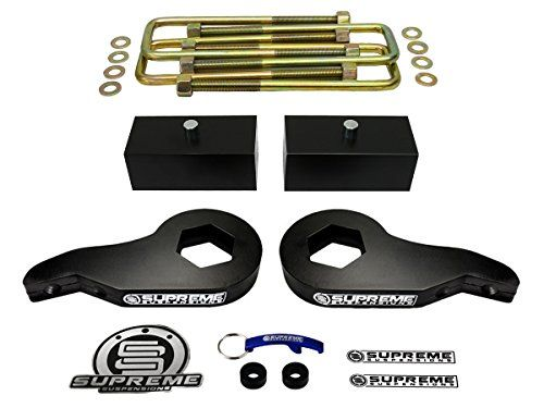 "Supreme Suspensions - Silverado Lift Kit Adjustable 1 - 3"" Front Suspension Lift High-Strength Carbon Steel MAX-Torsion + 2"" Rear Suspension Lift T6 Aircraft Billet Chevy Silverado Leveling Kit 4WD. For product info go to:  https://www.caraccessoriesonlinemarket.com/supreme-suspensions-silverado-lift-kit-adjustable-1-3-front-suspension-lift-high-strength-carbon-steel-max-torsion-2-rear-suspension-lift-t6-aircraft-billet-chevy-silverado-leveling-kit-4wd/"