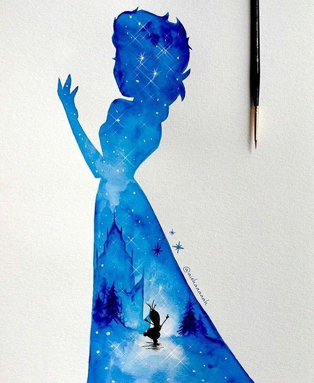 Lovely ☄ By @aishaaaaah - #worldofartists